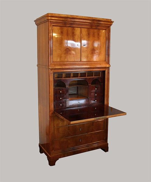 Aufsatzsekretär 207x100x052 Kirschbaum furniert 1830