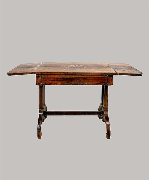 Salontisch 078x087/145 x 060 Mahagoni mit Intarsien 1825