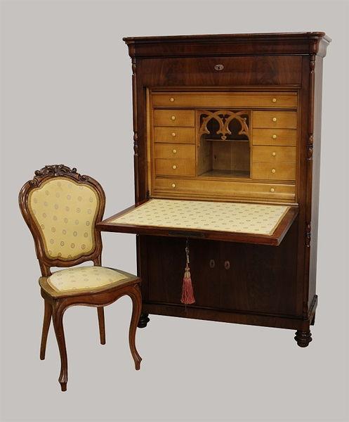 Sekretär 162x097x040 Mahagoni 1845