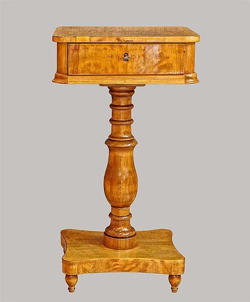 Säulennähtischchen 080x043x035 Birke 1825