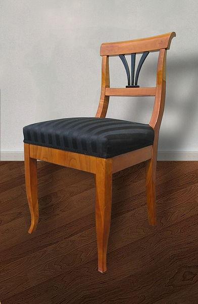 stuhl kirschbaum massiv hochwertige federkernpolsterung antiquit ten daniel c nagel bad. Black Bedroom Furniture Sets. Home Design Ideas