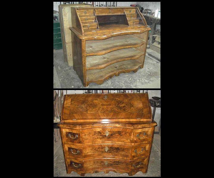 barock sekret r vorher nachher antiquit ten daniel c. Black Bedroom Furniture Sets. Home Design Ideas
