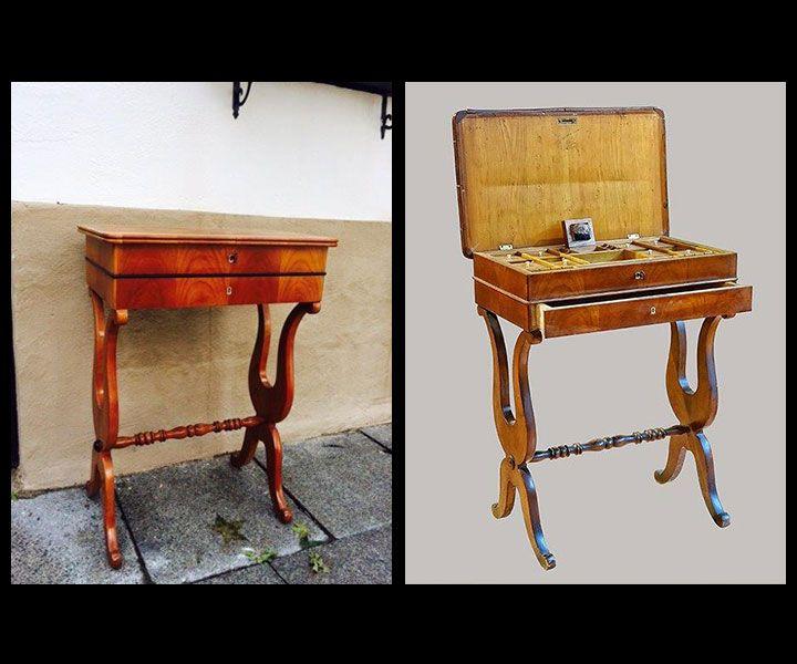 n htisch voher nachher antiquit ten daniel c nagel bad honnef. Black Bedroom Furniture Sets. Home Design Ideas