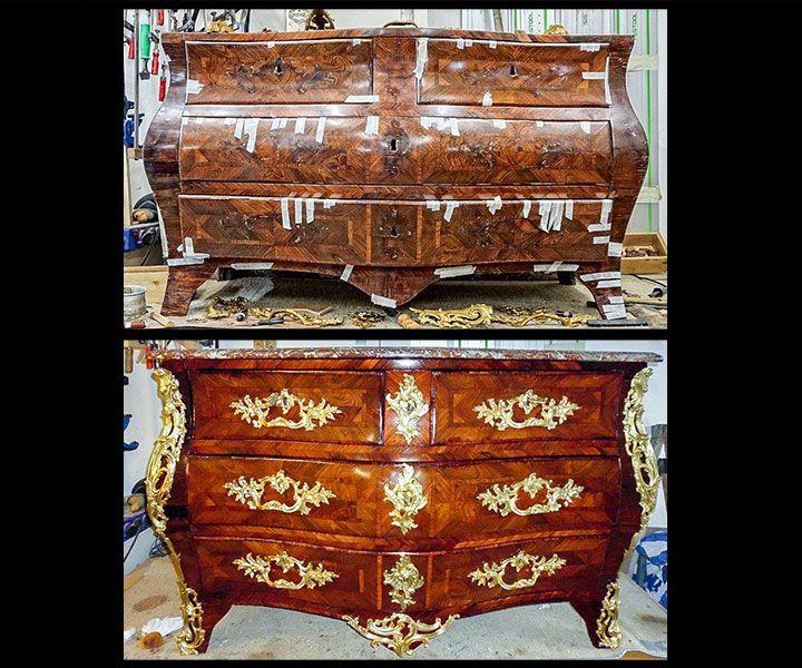 kommode vorher nachher antiquit ten daniel c nagel bad honnef. Black Bedroom Furniture Sets. Home Design Ideas