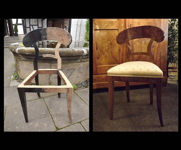 Restaurierung antiker Stühle aus der Biedermeier Epoche