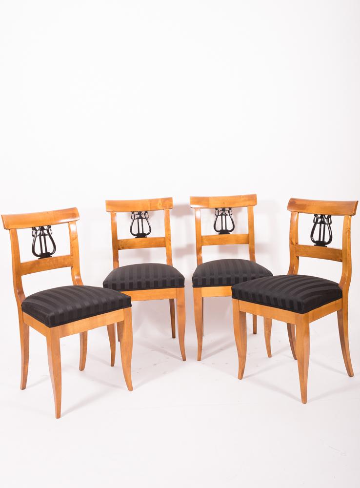 4er satz biedermeier st hle birke 1825 30 antiquit ten. Black Bedroom Furniture Sets. Home Design Ideas