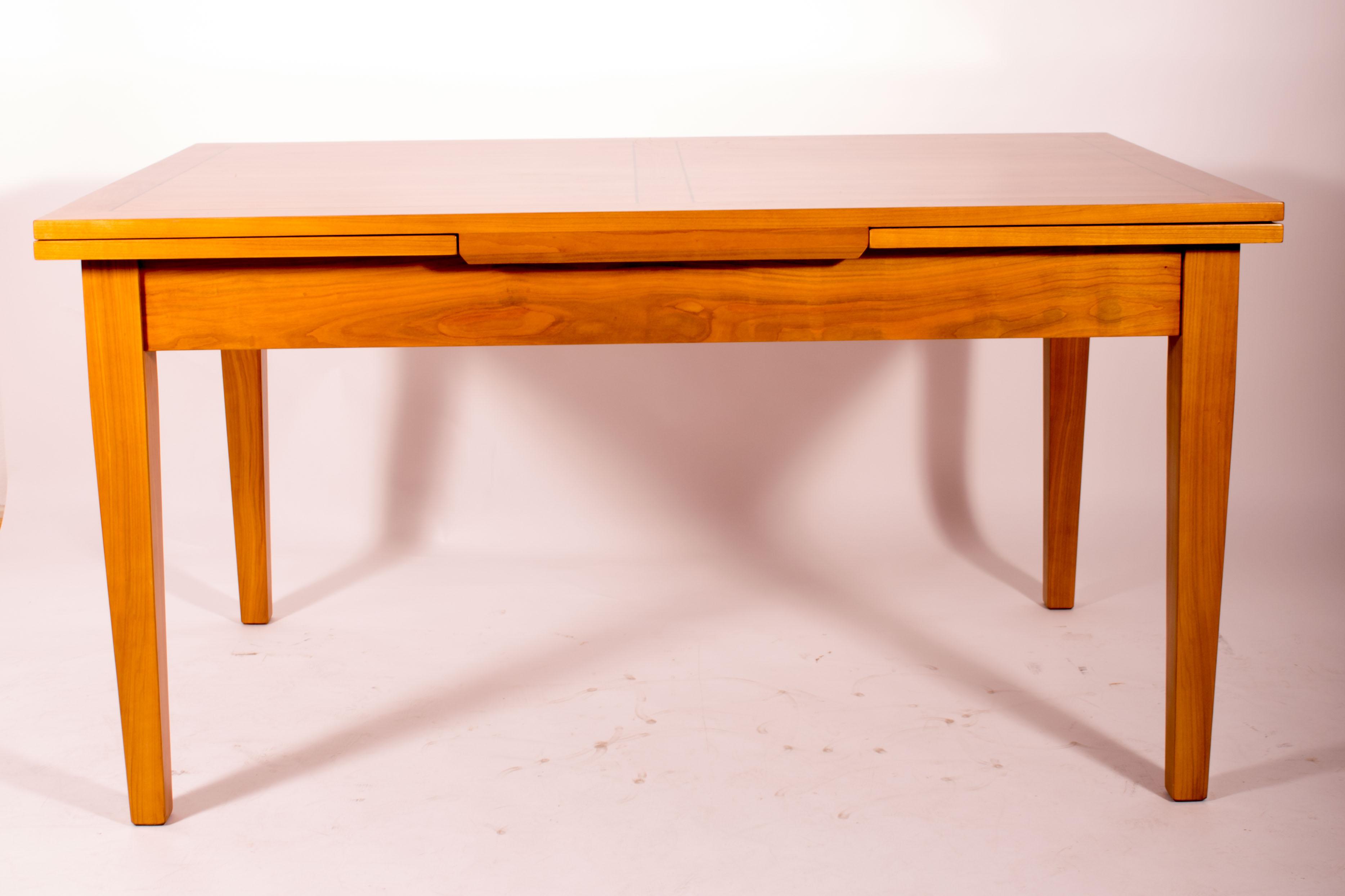 ausziehbarer tisch im biedermeier stil kirschbaum - antiquitäten