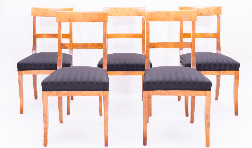 5 biedermeier st hle birke massiv 1820 antiquit ten. Black Bedroom Furniture Sets. Home Design Ideas