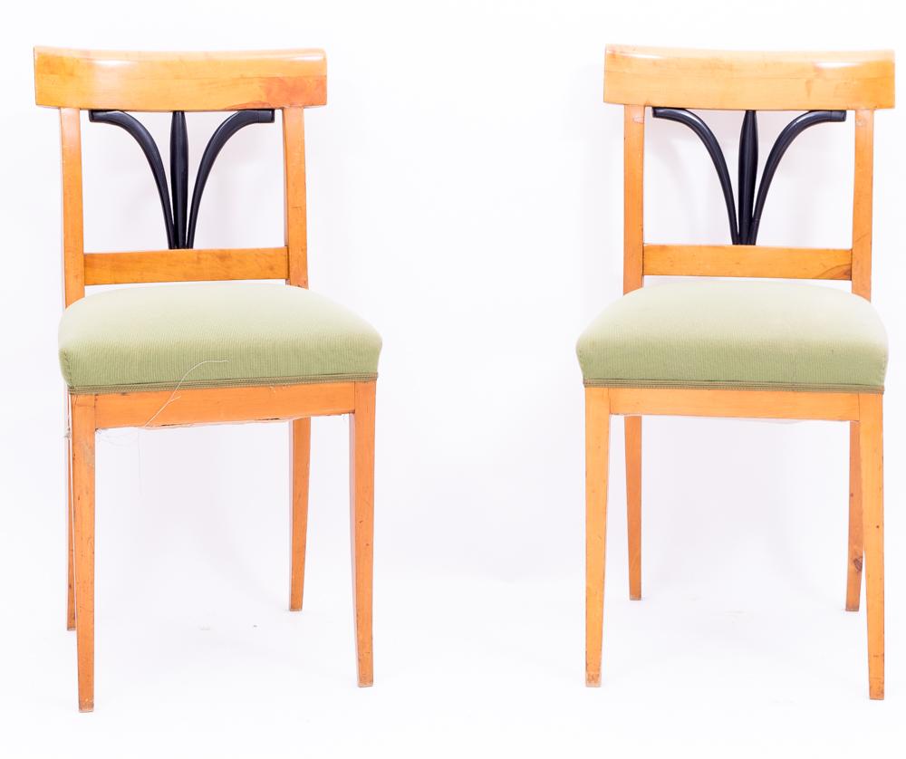 1 paar biedermeier st hle birke massiv 1825 antiquit ten. Black Bedroom Furniture Sets. Home Design Ideas