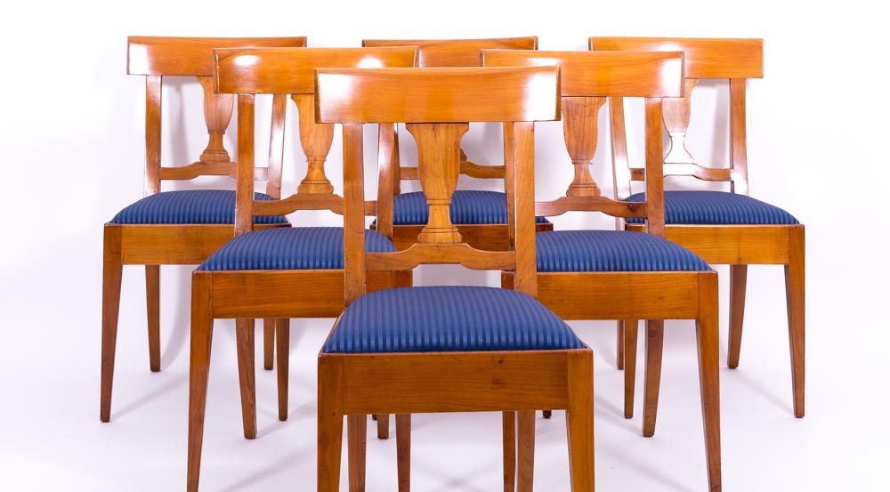 6er satz originale biedermeier st hle kirschbaum massiv 1820 antiquit ten daniel c nagel. Black Bedroom Furniture Sets. Home Design Ideas