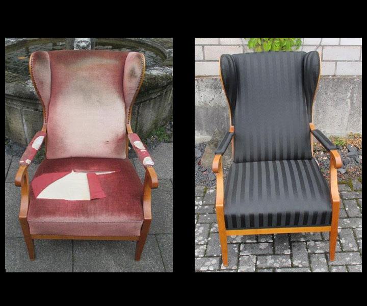 Wiederaufbau einer Sitzfläche bei antiken Stühlen , Sofas, Sesseln