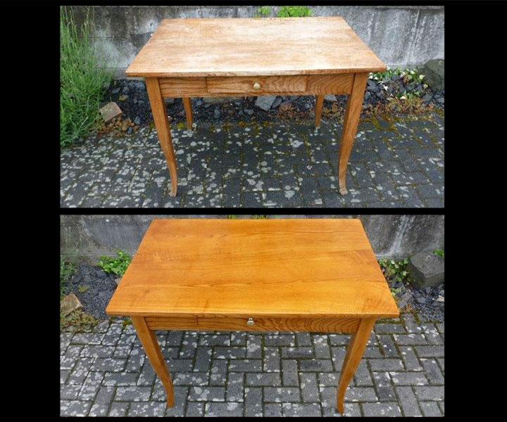 Antike Tischplatten renovieren
