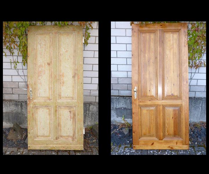 Antike massive Haustüren aus Eiche restaurieren