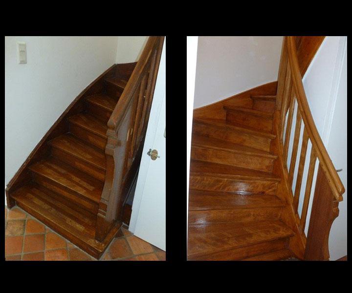 Oberflächenrestaurierung von Treppen Ablaugen Abbeizen, Parkett reparieren