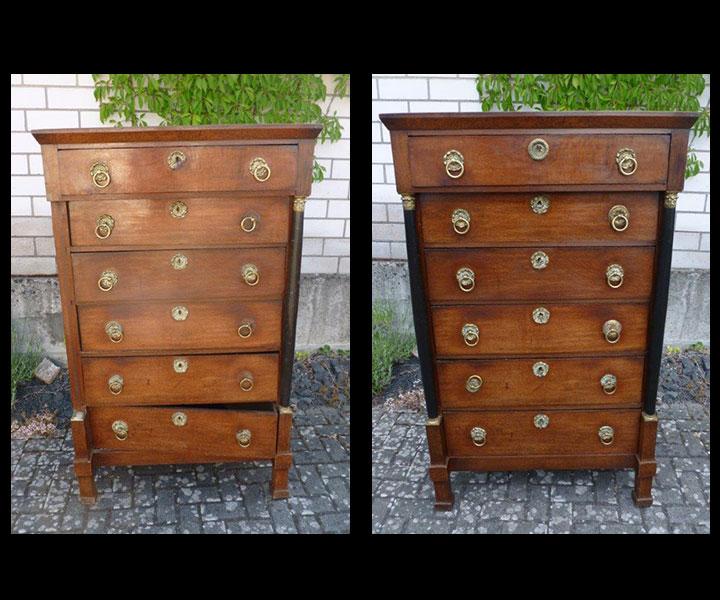 Neue Oberfläche für alte Möbel