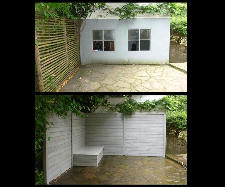 Gartengestaltung, Holzanbauten