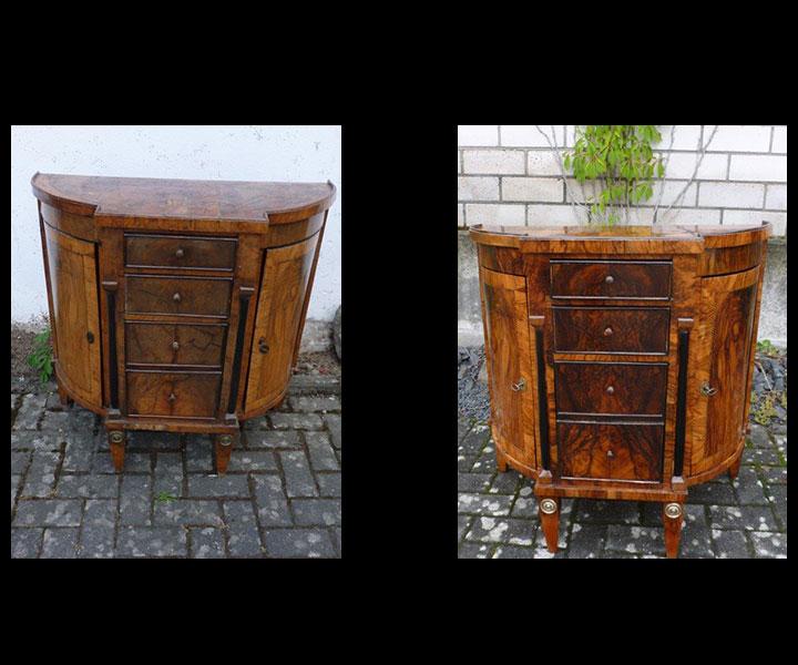 Oberflächen an antiken Möbeln erneuern und aufarbeiten