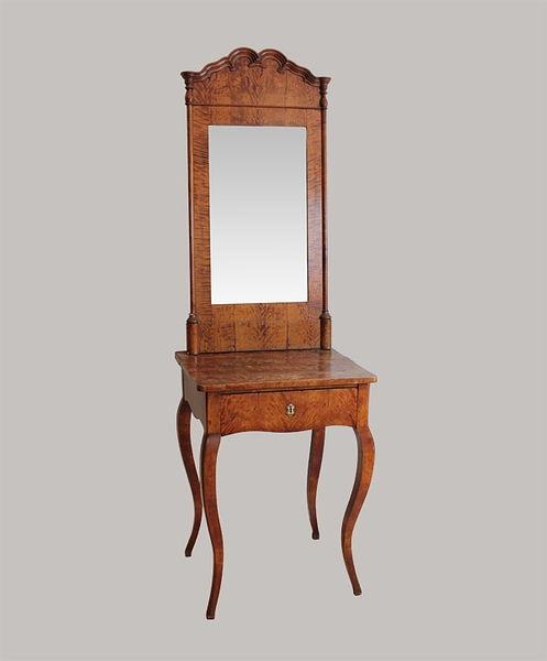 Beistelltisch mit Spiegel Birke 1845