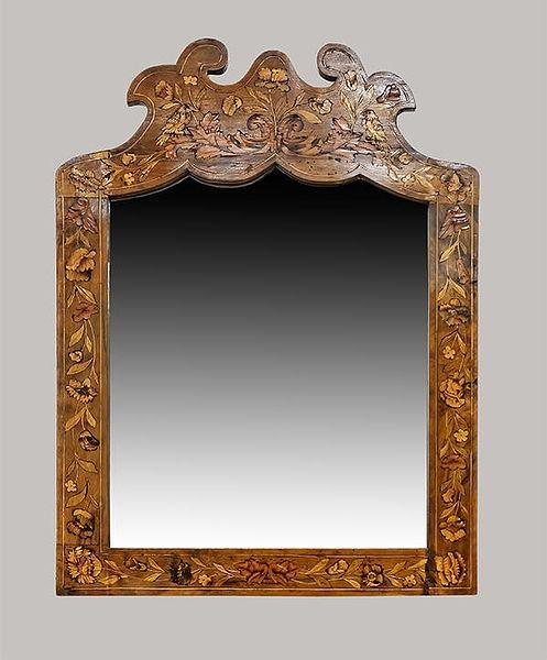 Spiegel mit Intarsien 070x045 versch. Holzarten